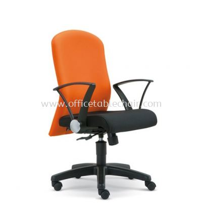 MUSS STANDARD LOW BACK FABRIC CHAIR WITH POLYPROPYLENE BASE