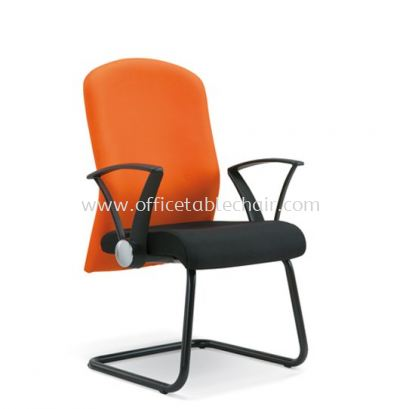 MUSS STANDARD VISITOR FABRIC CHAIR WITH EPOXY BLACK CANTILEVER BASE