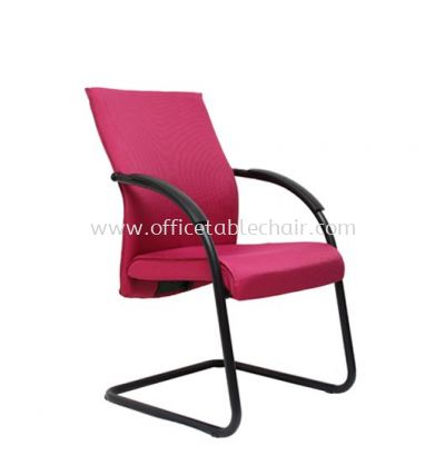 JENSI STANDARD VISITOR FABRIC CHAIR WITH EPOXY BLACK CANTILEVER BASE(A)