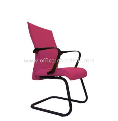 JENSI STANDARD VISITOR FABRIC CHAIR WITH EPOXY BLACK CANTILEVER BASE