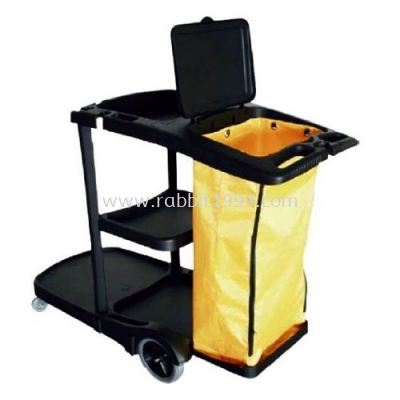 JANITOR CART c/w cover & linen bag - JC-314