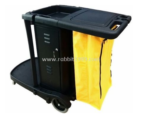 JANITOR CART c/w cover, cabinet & linen bag - JC-318