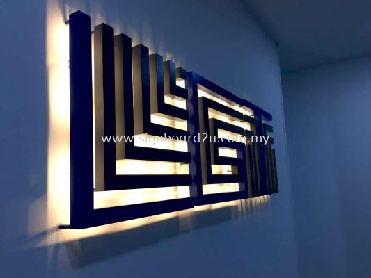 LGT logistics Sdn bhd led backlit 3d box up lettering at bayu klang