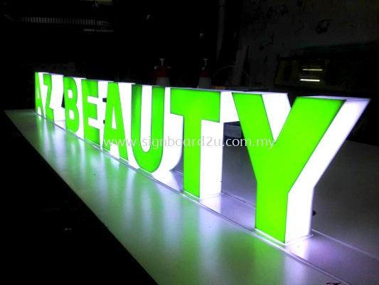 AZ Beauty Acrylic 3D box up led lettering at Gm Klang