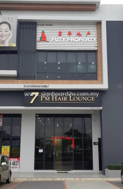 Futy Property Conceal box up 3D lettering signage at rimbayu