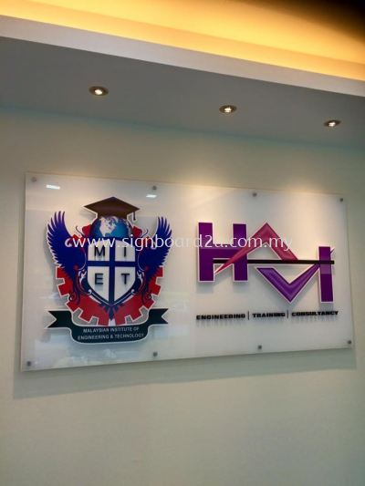 MIET Acrylic 3d  lettering display