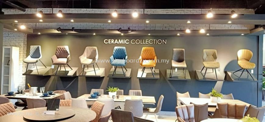 Ceramic collection backdrop printing