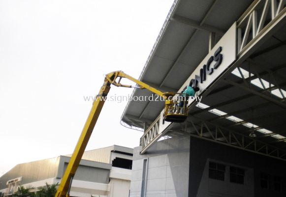 Flextronics 3D E.g Box up lettering at shah alam