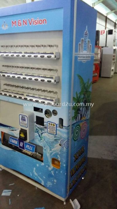 Inkjet sticker wrapping on machines