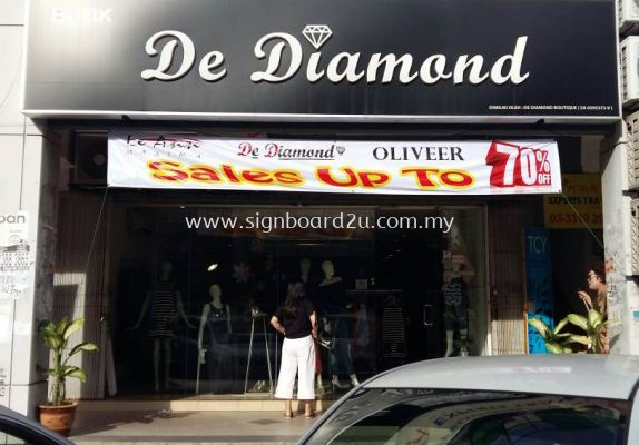 De diamond Acrylic 3D box up with light box signboard at kapar klang selangor
