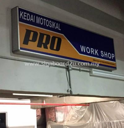 Pro work shop aluninium lightbox signboard at mid valley car park
