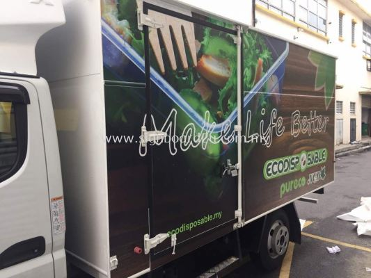 Eco disposable inkjet uv wrapping sticker at klang selangor