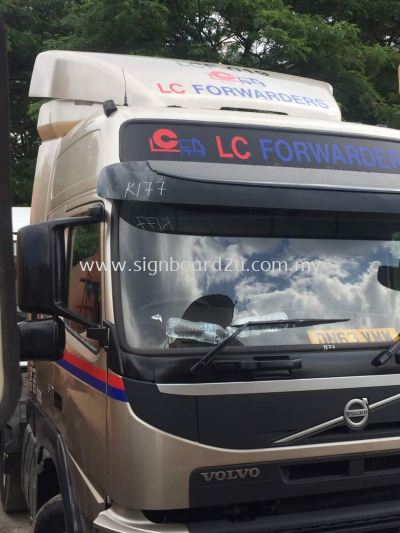 Lc Frowarders Lorry Truck cutting sticker at klang selangor
