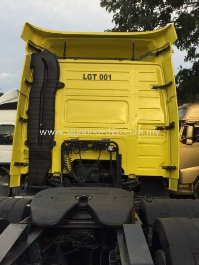 LGT Haulage sdn bhd Lorry Truck cutting sticker at klang selangor