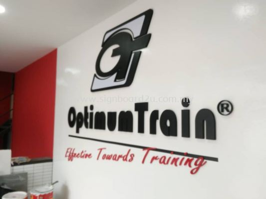 Optimum Triain pvc board cutting lettering signage  at shah alam