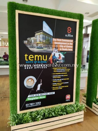Lagenda Gardens install signage sticker at event booth kuala lumpur