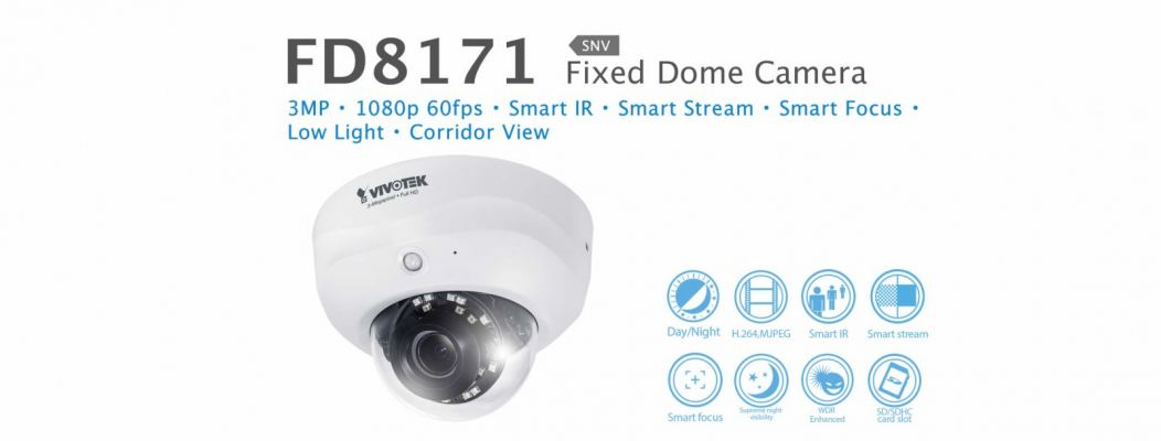 FD8171. Vivotek Fixed Dome Camera
