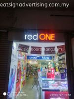 red one network sdn bhd 3D LED conceal box up lettering signage at sunway subang jaya