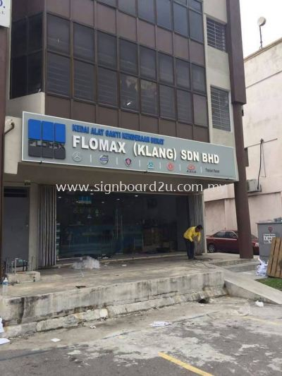 Floxmax (Klang) sdn bhd stainless steel 3D box up  signboard signage at West port selangor