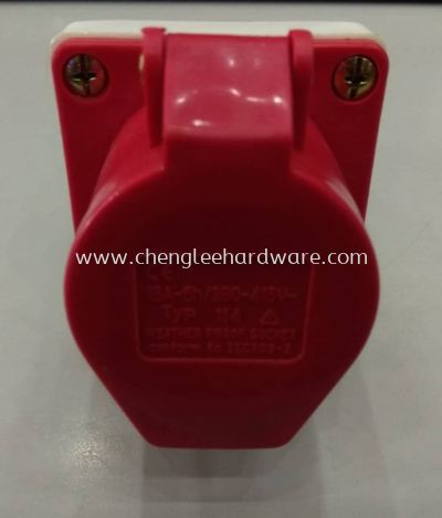 007822 CEE 32AMP 4 PIN  WALL SOCKET CONNECTOR