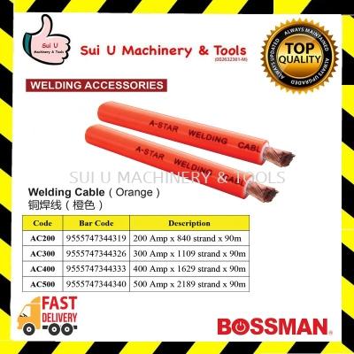 BOSSMAN Welding Cable (Orange) 90m Welding Accessories