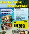 Early Bird Promotion 3Day2Night Pulau Tioman Paya Beach Spa&Dive Resort Island Package 海岛配套