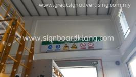 Normal Metal G.I Safety Signage at Kapar Klang