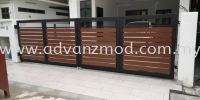 Mild Steel Gate With Aluminium Panel