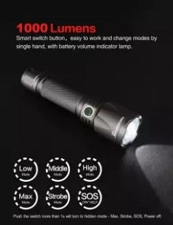 NICRON B60 HIGH PERFORMANCE FLASHLIGHT