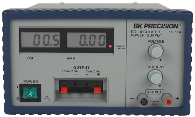 Triple-Output 30V, 3A Digital Display DC Power Supply Model 1670A