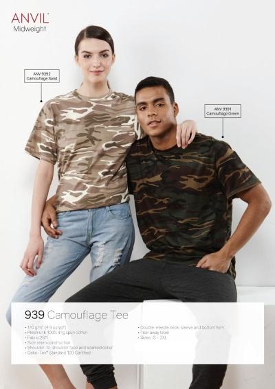 Round-Neck Camouflage Tee