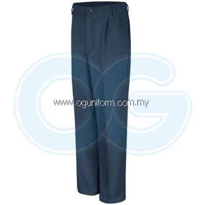 Pleated Front Pant (Navy Blue)