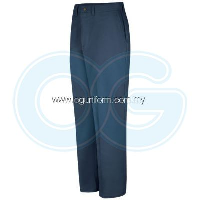 Plain Front Pant (Navy Blue)
