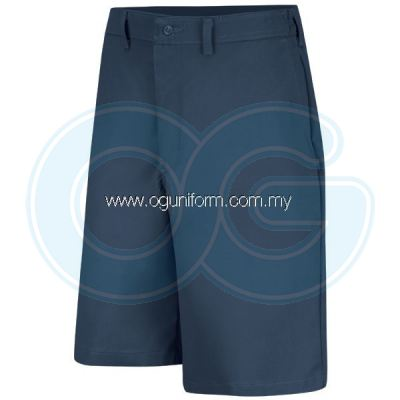 Plain Front Side Elastic Short (Navy Blue)