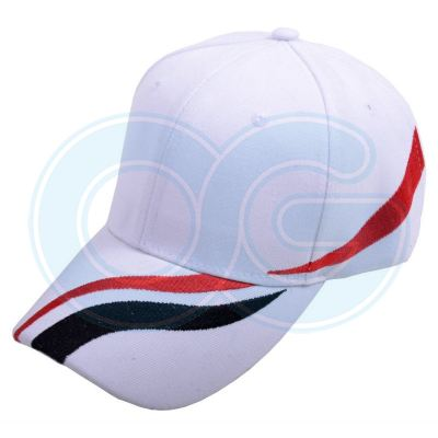 Wool Cap Design D (CW2R/87) (White/Red/Black)