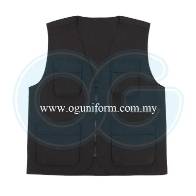 Safety Vest (VT03OS/291) Black (02)