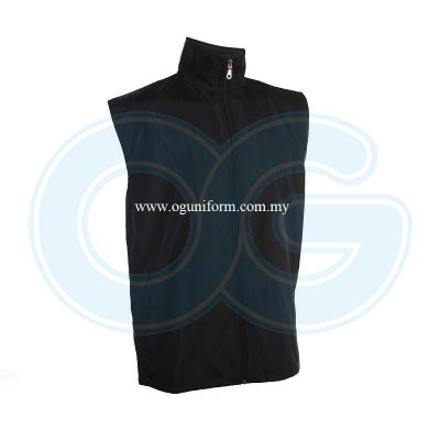 Unisex Sleeveless Vest Jacket (VJ06E-261) Black (02)