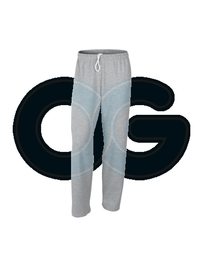 Unisex Open Bottom Sweatpants (G88400M-521) Sport Grey (295H)G