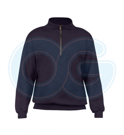Unisex Half Zip Sweatshirt (G18800M-598) Blackberry (278C)G