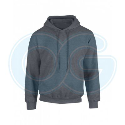 Unisex Hooded Sweatshirt (G88500M-521) Dark Heather (108C)G