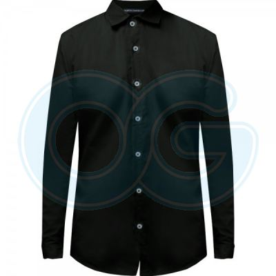 Unisex Long Sleeve Shirt (NHB14M509) Black
