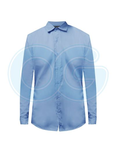 Unisex Long Sleeve Shirt (NHB20M-509) Carolina Blue