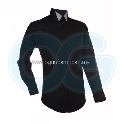 Unisex Long Sleeve Shirt (SH01OS-379) Black(02)