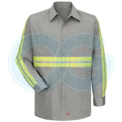 Enhanced Visibility Work Shirt(1 Reflective) Grey