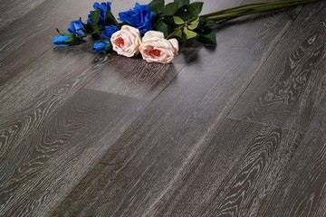 Carbonized & White Brushed(Oak 42)