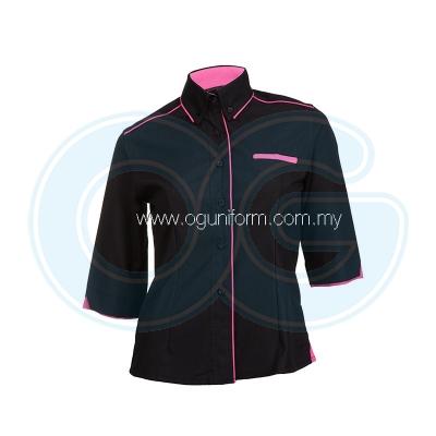 Female F1 Shirt (F117OS/355) Black(02)