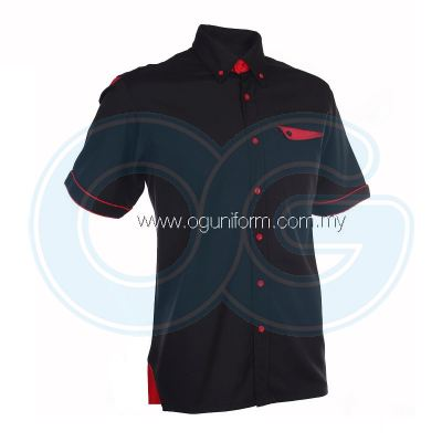 Unisex F1 Shirt (F128OS/355) Black(02)