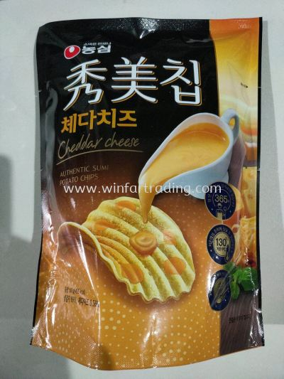 NONGSHIM AUTHENTIC SUMI CHEESE CHEDDAR POTATO CHIPS 80G BC 8801043053860