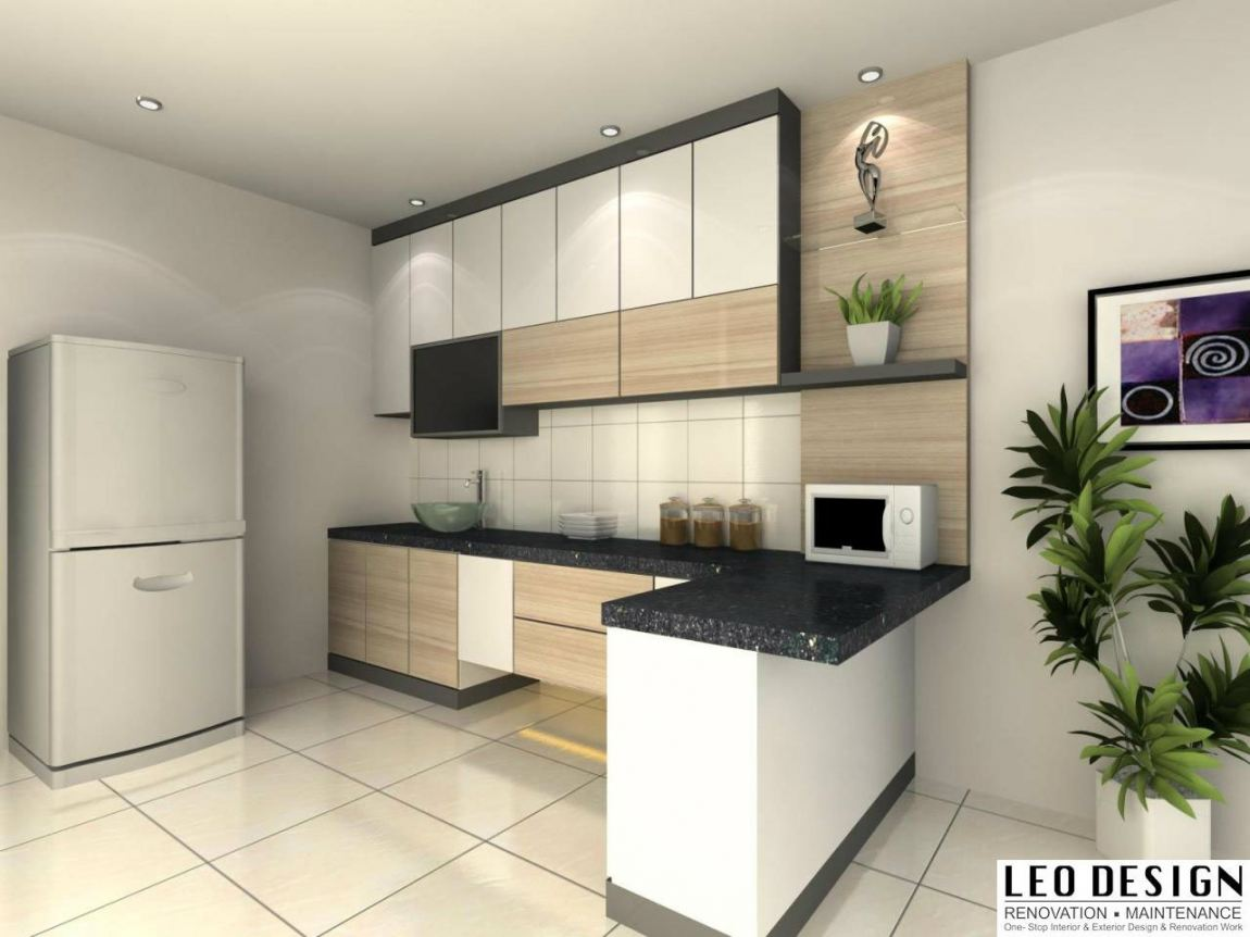 Kitchen Cabinet 3D Design Suitable Kitchen 3D Design Drawing