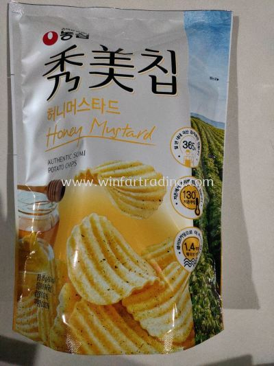NONGSHIM SUMICHIP HONEY MUSTARD POTATO CHIPS 85G BC8801043030748